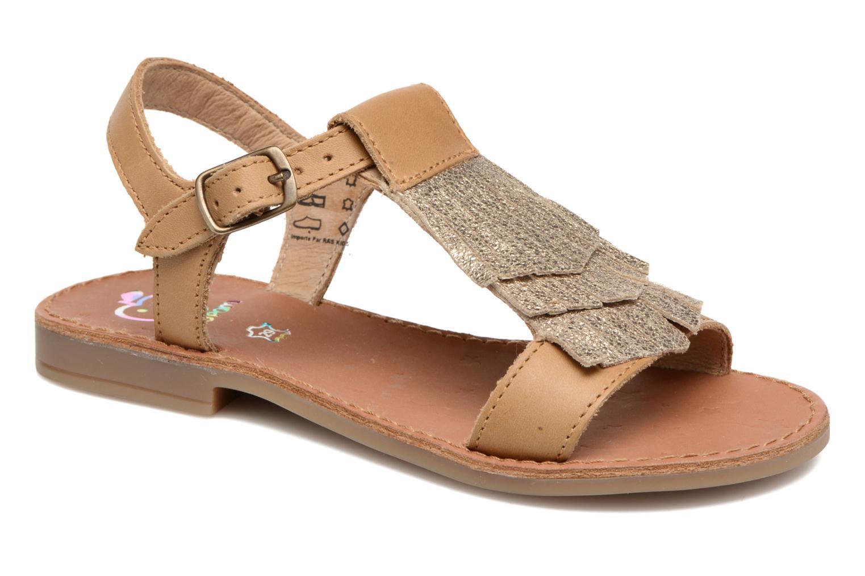 Sandales et nu-pieds Shoo Pom Happy Fringe Marron vue détail/paire