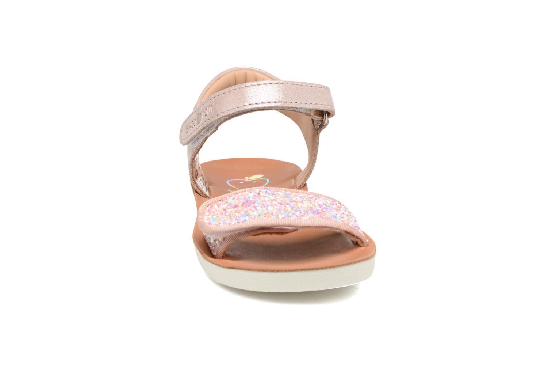 Sandales et nu-pieds Shoo Pom Goa Scratch Piping Rose vue portées chaussures
