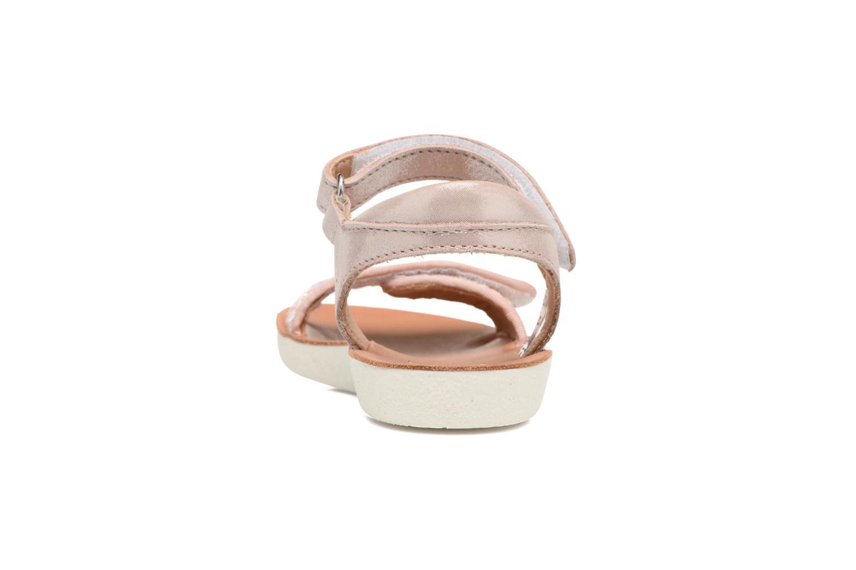 Sandales et nu-pieds Shoo Pom Goa Scratch Piping Rose vue droite