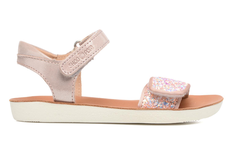 Sandales et nu-pieds Shoo Pom Goa Scratch Piping Rose vue derrière
