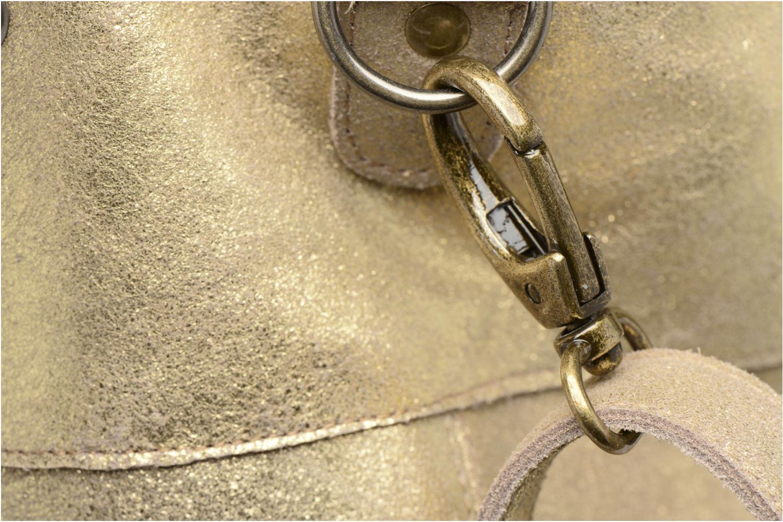 Bolsos de mano Pieces Vanity Leather Big bag Foil Oro y bronce vista lateral izquierda