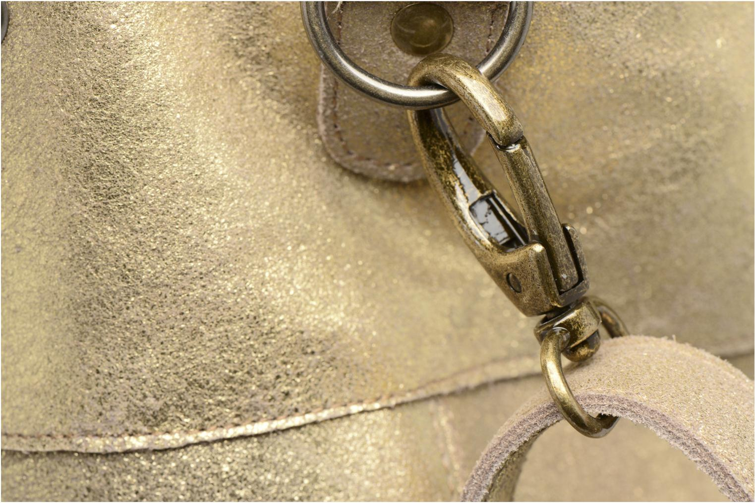 Handtassen Pieces Vanity Leather Big bag Foil Goud en brons links