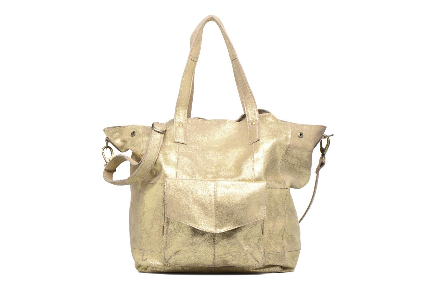 Handtassen Pieces Vanity Leather Big bag Foil Goud en brons detail