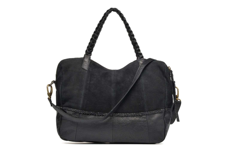 Sacs à main Pieces Cameo Leather bag Noir vue face
