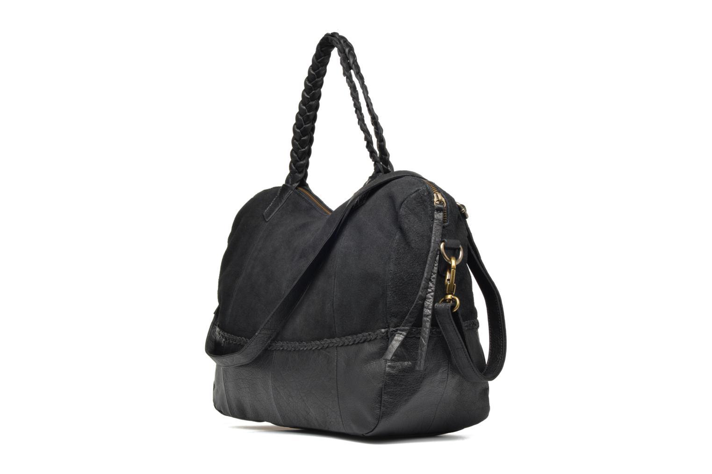 Sacs à main Pieces Cameo Leather bag Noir vue droite