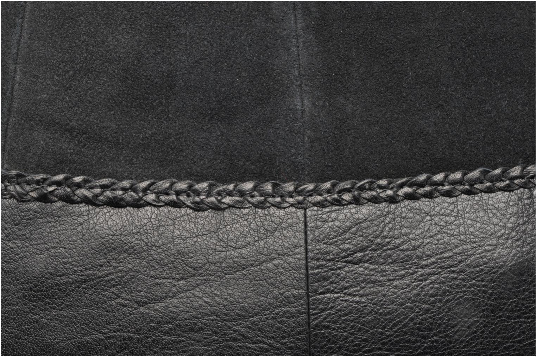 Sacs à main Pieces Cameo Leather bag Noir vue gauche