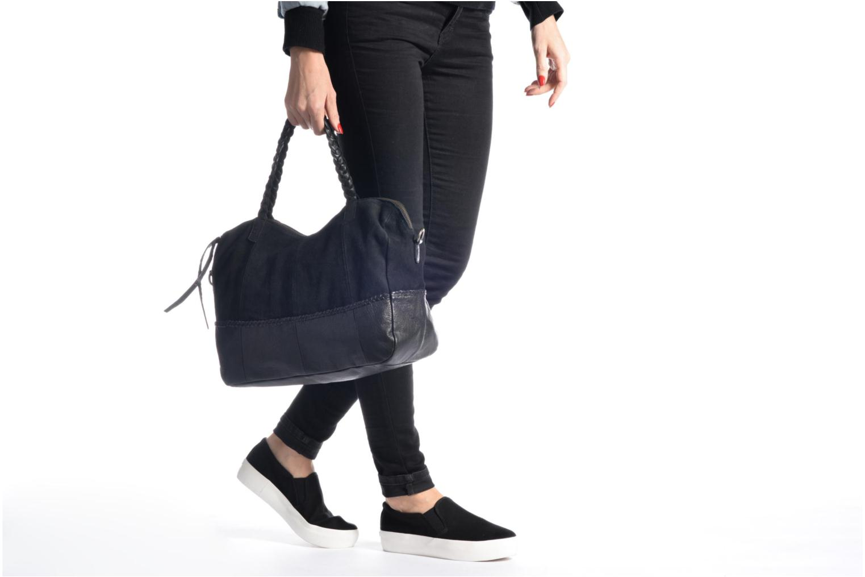 Sacs à main Pieces Cameo Leather bag Noir vue haut
