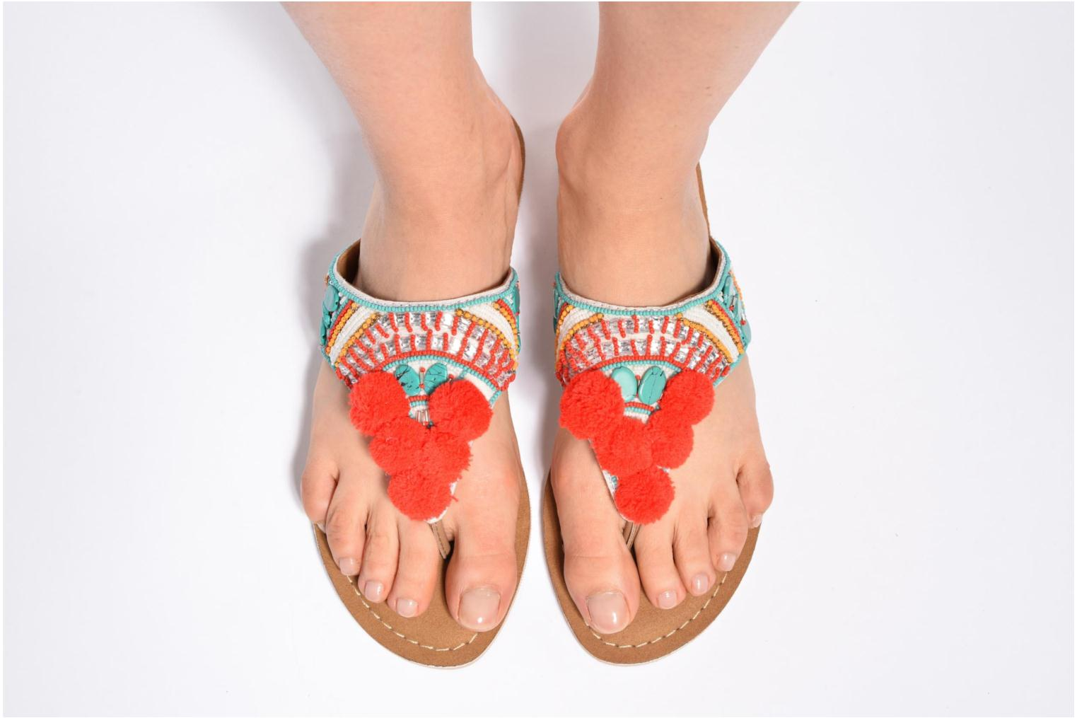 Sandals Buffalo Josy Multicolor view from underneath / model view