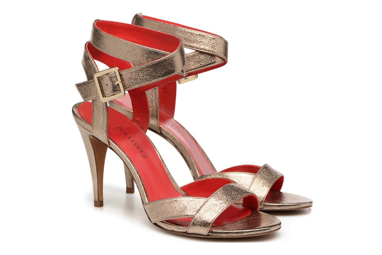 Sandalen Pura Lopez Violetta gold/bronze 3 von 4 ansichten