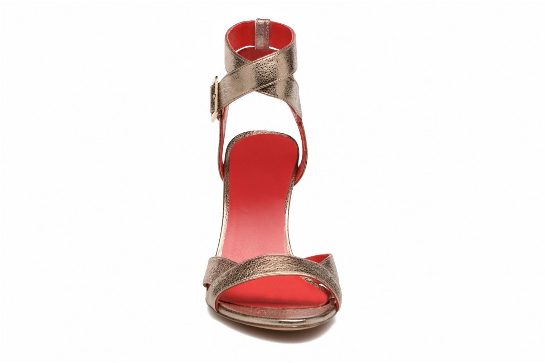 Sandalen Pura Lopez Violetta gold/bronze schuhe getragen