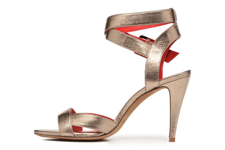 Sandalen Pura Lopez Violetta gold/bronze ansicht von vorne