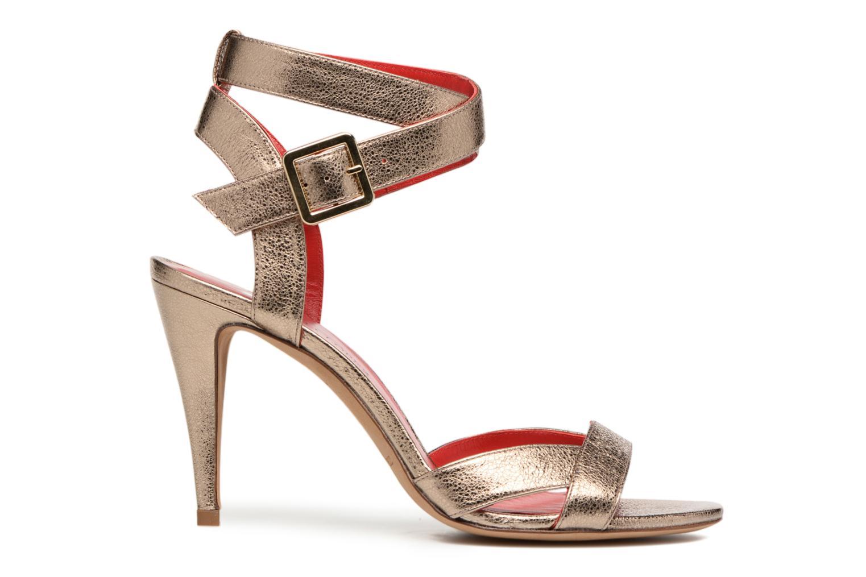 Sandalen Pura Lopez Violetta gold/bronze ansicht von hinten