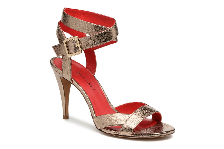 Sandalen Pura Lopez Violetta gold/bronze detaillierte ansicht/modell