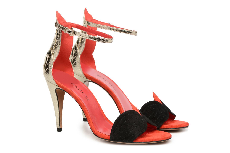 Sandals Pura Lopez Olska Multicolor 3/4 view