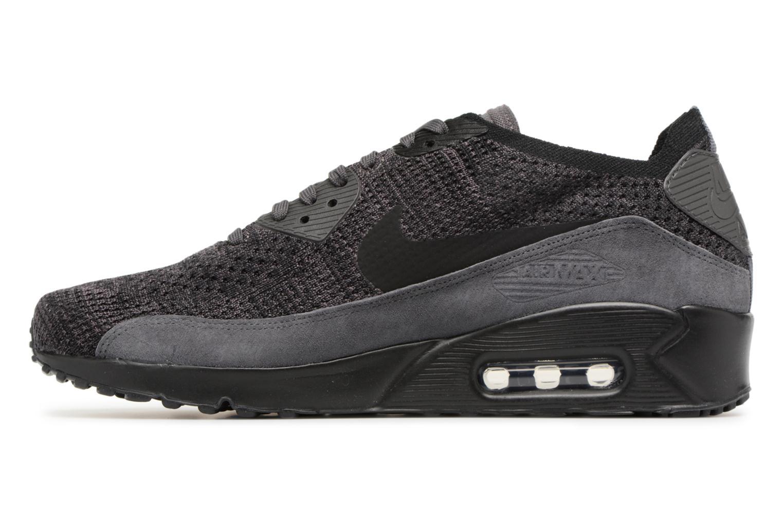Sneaker Nike Air Max 90 Ultra 2.0 Flyknit grau ansicht von vorne