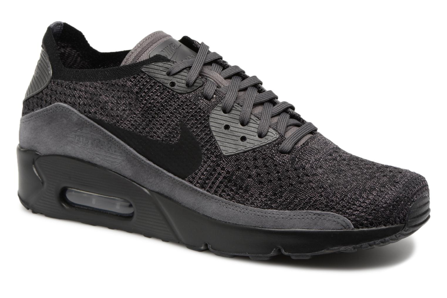 Pale Grey/Pale Grey-Armory Navy Nike Air Max 90 Ultra 2.0 Flyknit (Beige)