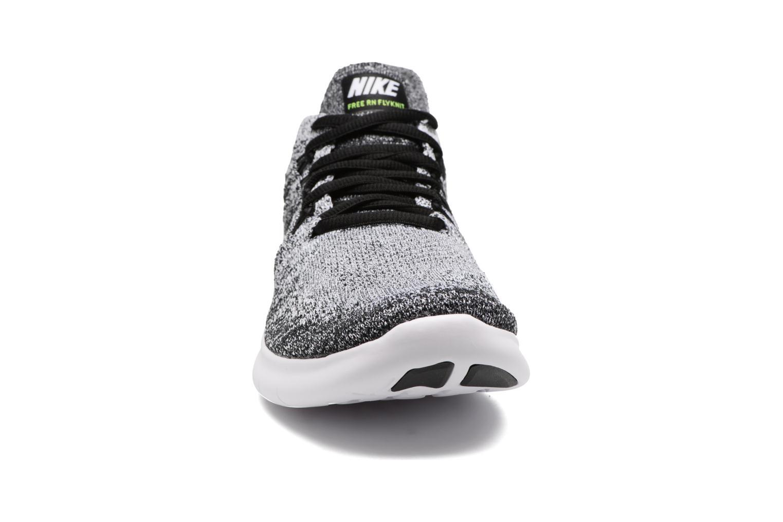 Sportschuhe Nike Wmns Nike free Rn Flyknit 2017 schwarz schuhe getragen