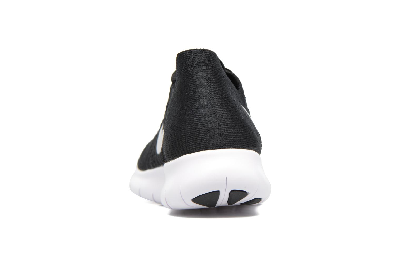 Chaussures de sport Nike Wmns Nike free Rn Flyknit 2017 Noir vue droite