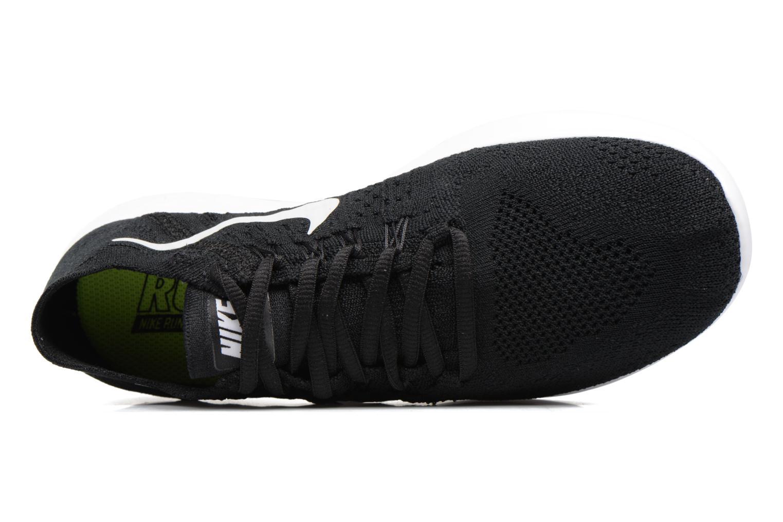 Chaussures de sport Nike Wmns Nike free Rn Flyknit 2017 Noir vue gauche