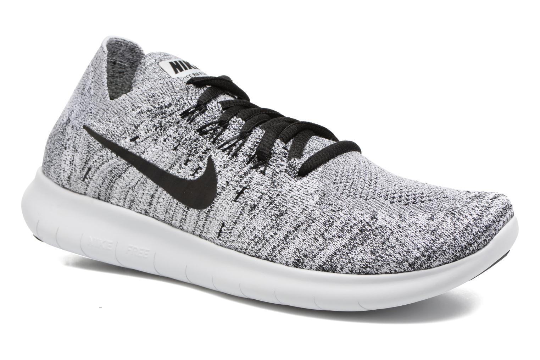 Chaussures de sport Nike Wmns Nike free Rn Flyknit 2017 Gris vue détail/paire