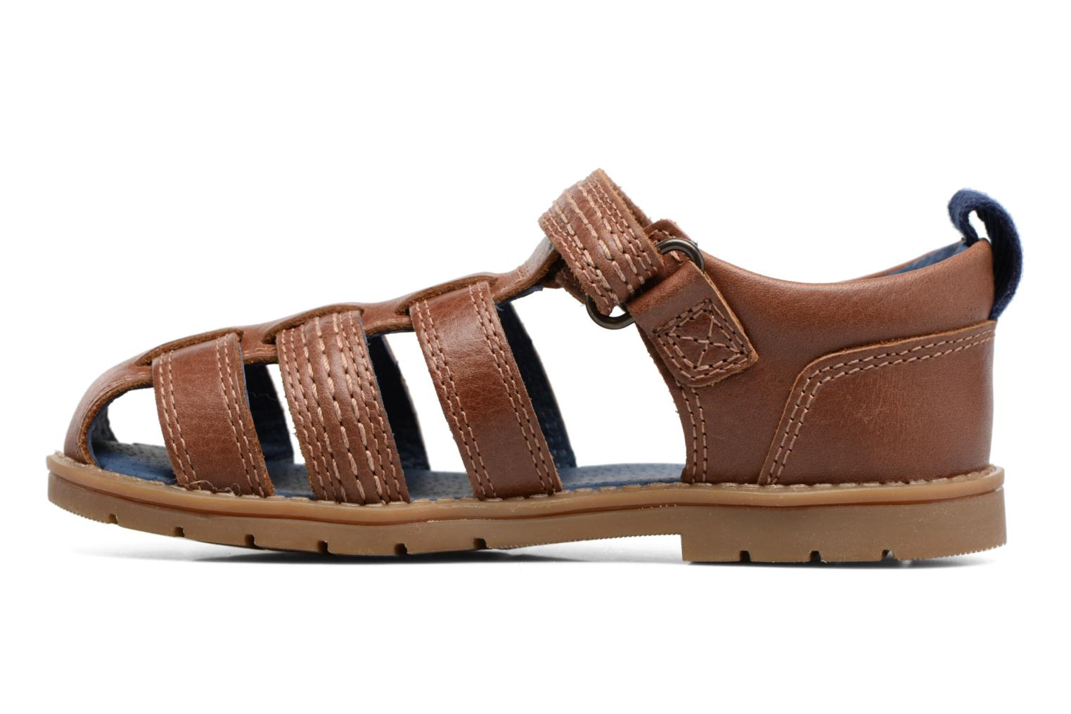 Sandals Kickers Orin Sandal Brown front view