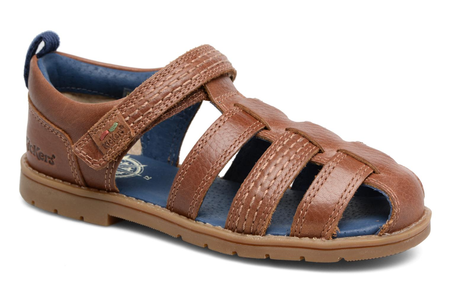 Sandals Kickers Orin Sandal Brown detailed view/ Pair view