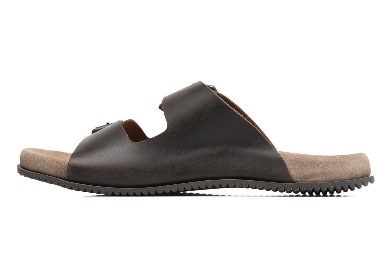 Sandalen Kickers Relaxou braun ansicht von vorne