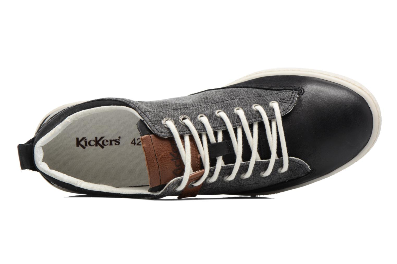 Sneakers Kickers Santa Fe Zwart links