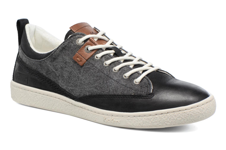 Sneakers Kickers Santa Fe Zwart detail