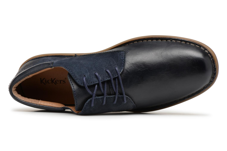 Chaussures à lacets Kickers Vildiur Bleu vue gauche