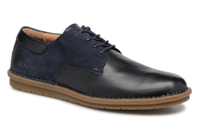 Chaussures à lacets Kickers Vildiur Bleu vue détail/paire