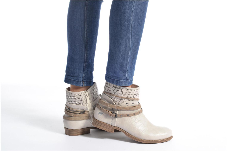 Bottines et boots Mustang shoes Calliope Gris vue bas / vue portée sac