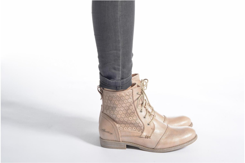 Bottines et boots Mustang shoes Chiara Rose vue bas / vue portée sac