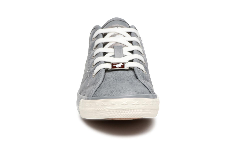 Sneaker Mustang shoes Verena grau schuhe getragen
