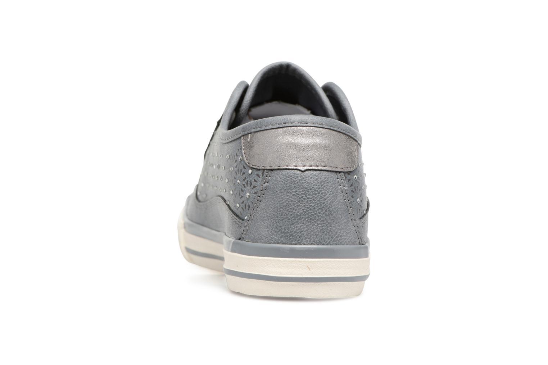 Sneaker Mustang shoes Verena grau ansicht von rechts