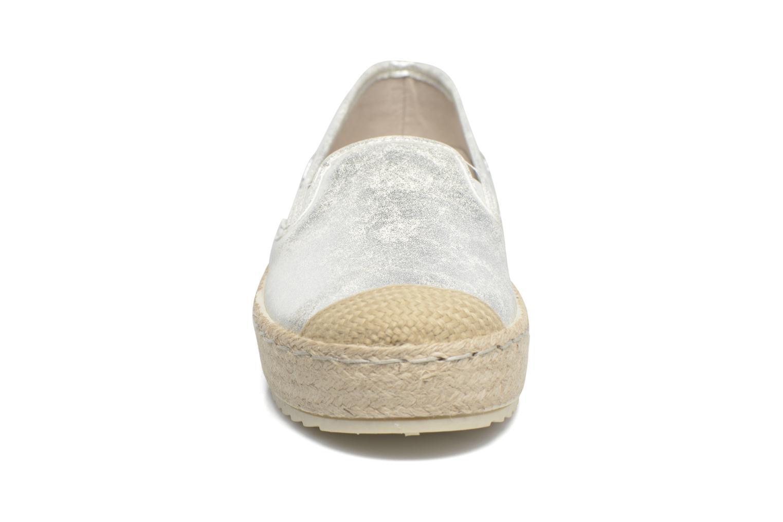 Scarpe di corda Mustang shoes Kathe Argento modello indossato