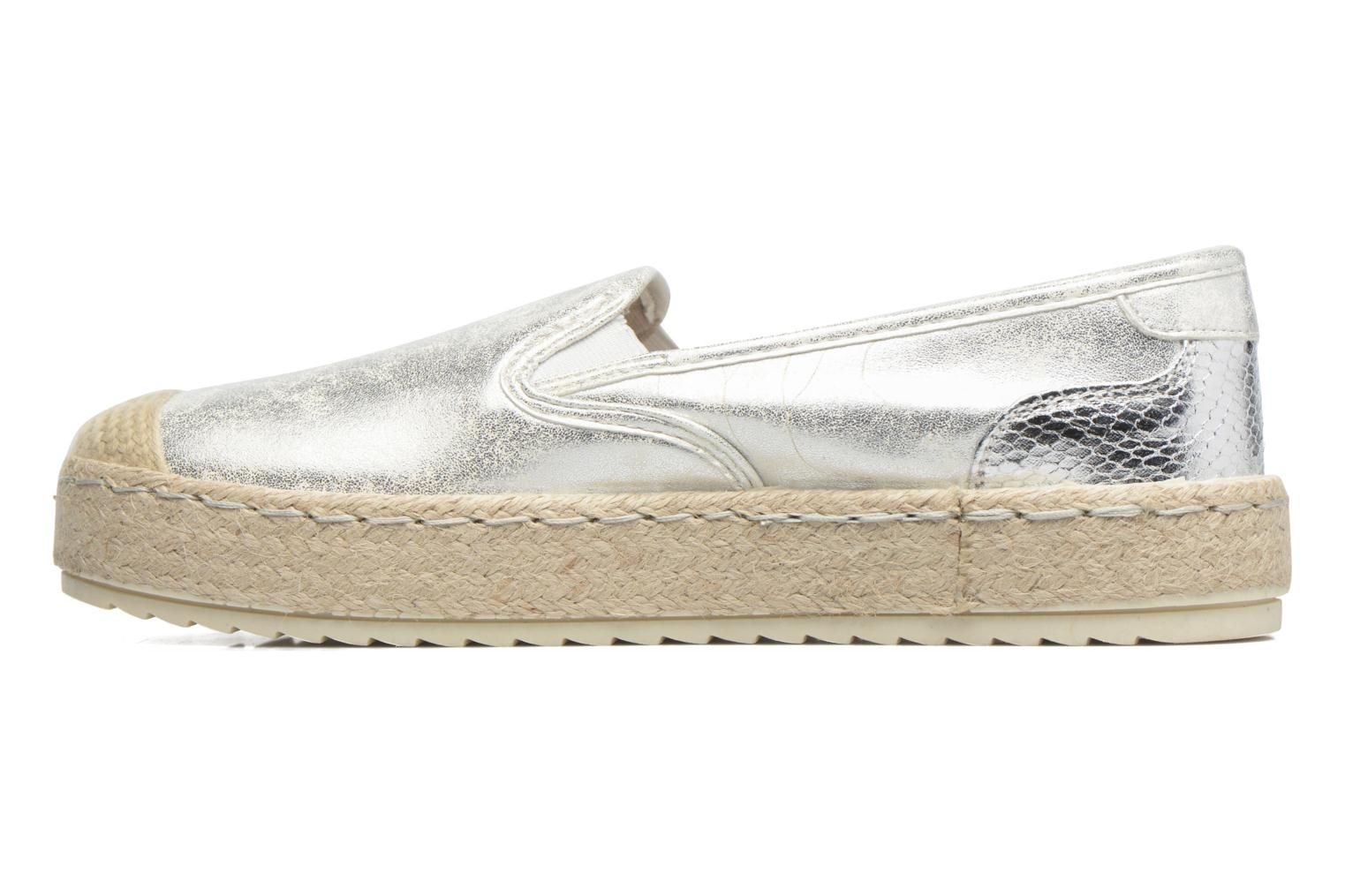 Espadrilles Mustang shoes Kathe Silver front view