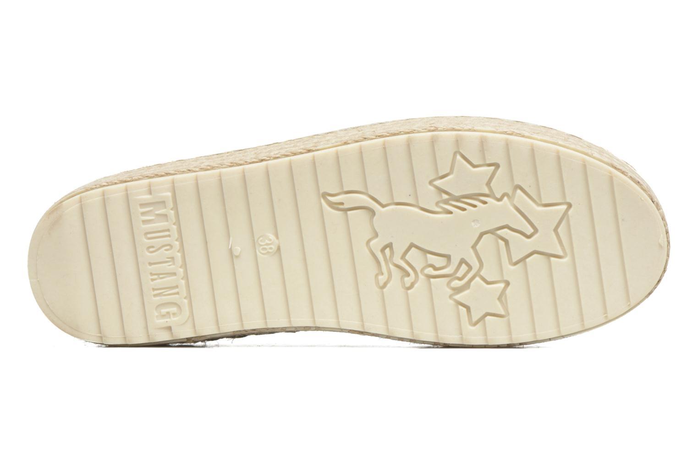 Espadrilles Mustang shoes Kathe silber ansicht von oben