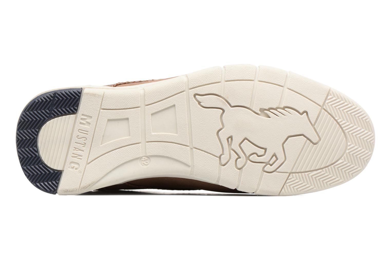 Baskets Mustang shoes Gregor Marron vue haut