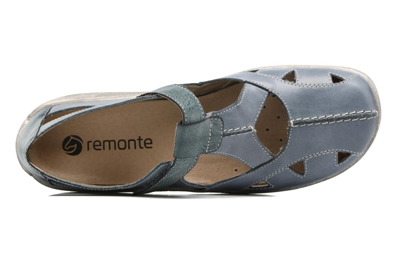 Sandales et nu-pieds Remonte Mila D3802 Bleu vue gauche