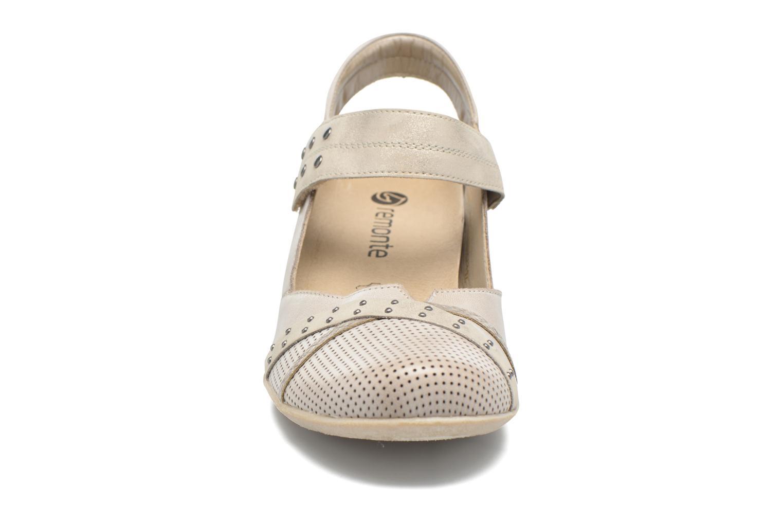 Escarpins Remonte Lina D5002 Beige vue portées chaussures