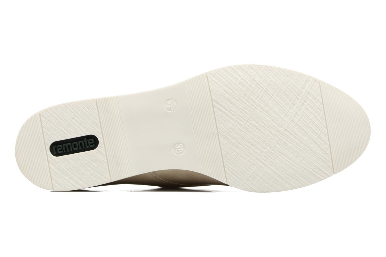 Chaussures à lacets Remonte Malou R0400 Beige vue haut