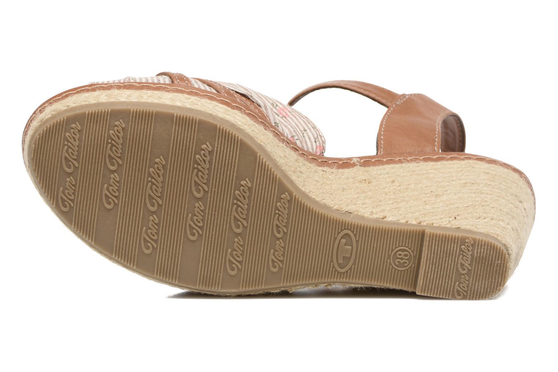 Sandales et nu-pieds Tom Tailor Estepona Marron vue haut