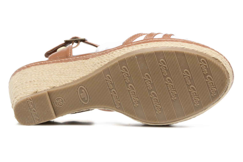 Sandales et nu-pieds Tom Tailor Estepona Blanc vue haut