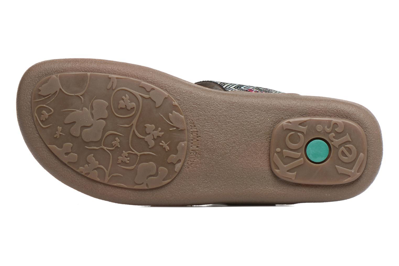 Sandales et nu-pieds Kickers Atobi Rouge vue haut