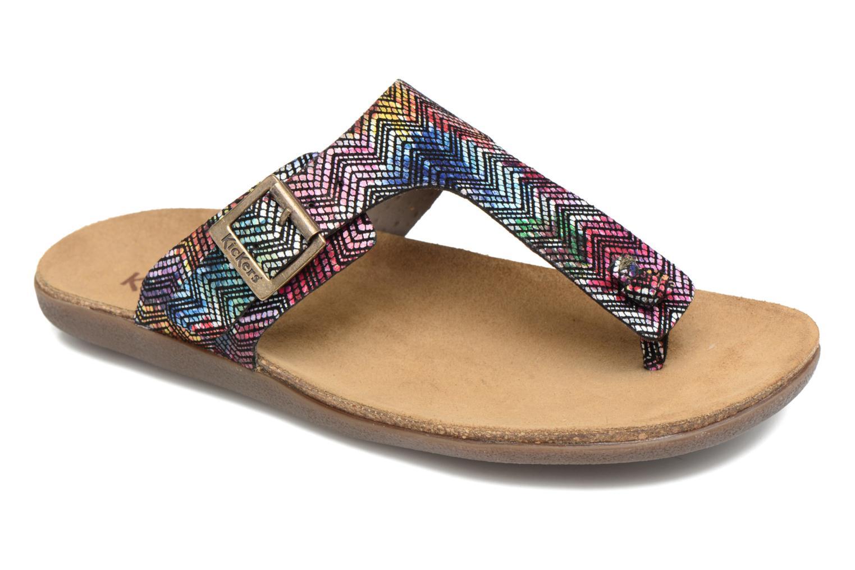 Sandales et nu-pieds Kickers Atobi Rouge vue détail/paire
