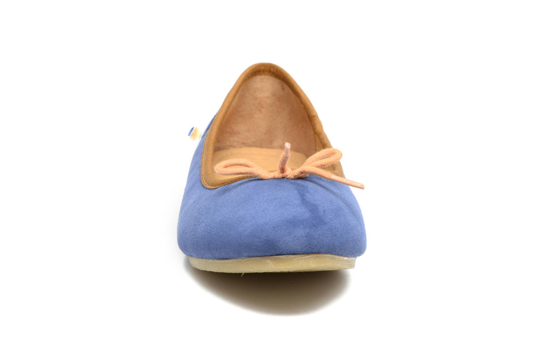 Ballerinas Kickers Baie blau schuhe getragen