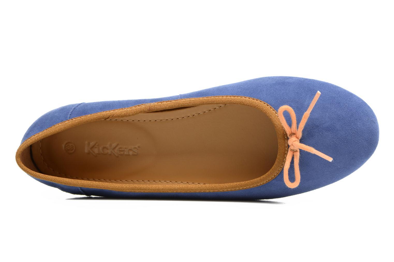 Ballerinas Kickers Baie blau ansicht von links