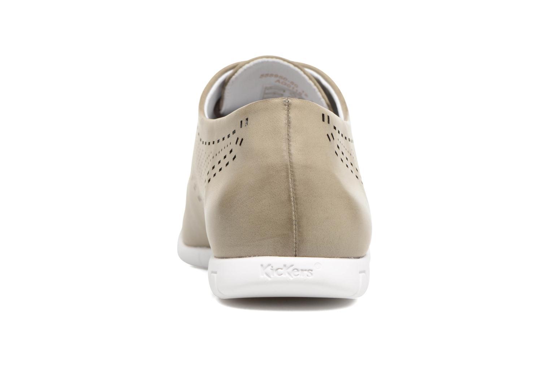 Chaussures à lacets Kickers Becki Gris vue droite