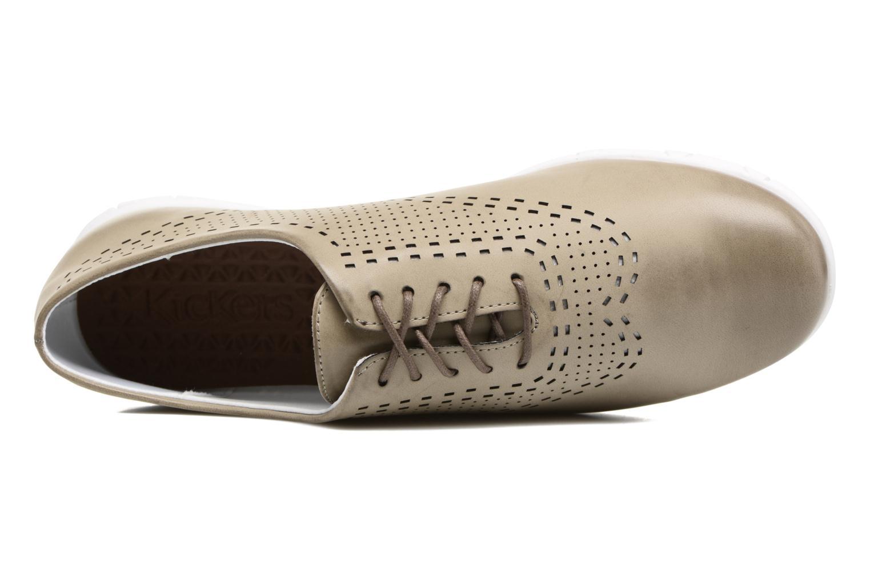 Chaussures à lacets Kickers Becki Gris vue gauche